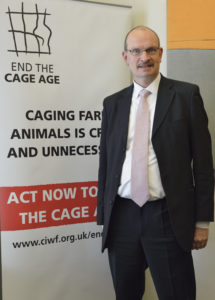Sandy attending End the Cage Age - Parliamentary event organized by Compassion in World Farming