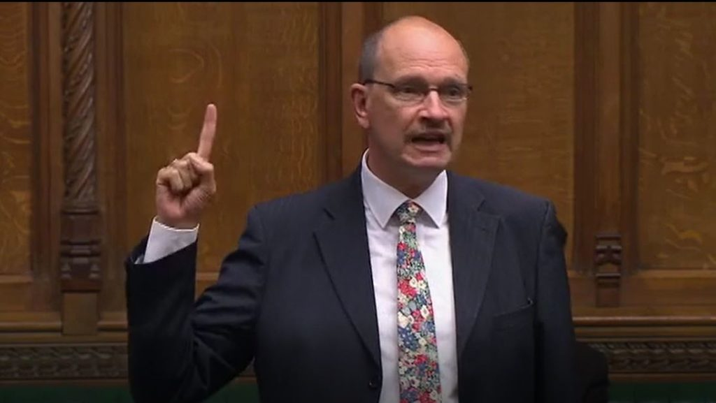 Sandy speaking during the Early Parliamentary General Election debate